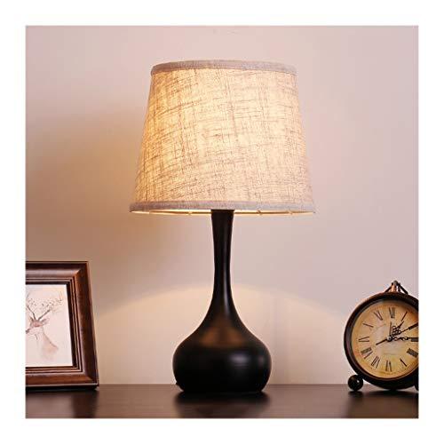 WFL - Lámpara de mesa de mesa creativa americana, tela de hierro forjado E27 * 1, salón, decoración Sofa, dormitorio, hotel, lámpara de mesa de alta calidad (color A)