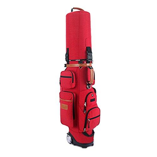Golfbag Golf Bag Golf Cart Tasche Mit Rädern Golf Club Taschen Multifunktions Aviation Bag - Reise Ball Tasche - Mens Damen - Nylon - Super Leicht 4.35kg - Verstellbare Schultergurte