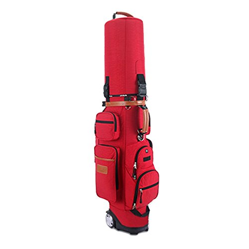 Golfbag Golf Bag Golf Cart Tasche Mit Rädern Golf Club Taschen Multifunktions Aviation Bag - Reise Ball Tasche - Mens Damen - Nylon - Super Leicht 4.35kg - Verstellbare Schultergurte