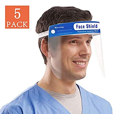 AIDIER Safety Face Shield Reusable Full Face Transparent Breathable Visor Windproof Dustproof Hat Shield Protect Eyes And Face With Protective Clear Film Elastic Band