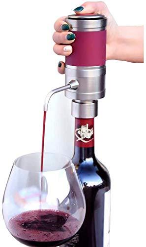 ZKHD Dispensador De Aireador De Vino Eléctrico, Portátil One-Touch Decantador Difusor Sistema Difusor Vino Eléctrico Viernes, Accesorios De Vino para Amantes del Vino