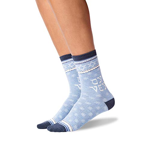 HOTSOX Womens Oy Vey Socks 1 Pair, Blue Heather, Womens 9-11