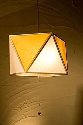 日本製和風ペンダントライト AP817-1-E 彩 -sai L- 1灯タイプ 白×山吹