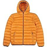 Champion Men Winter Jacket Hooded Jacket 214869, Couleur:Orange (abz)/Allover/Orange (abz), Taille:S