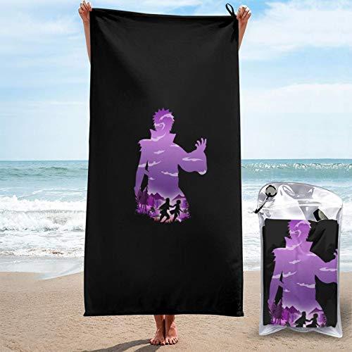 Toalla de secado rápido, perfecta para viajes, playa, toalla grande, suave, de secado rápido, apta para camping, gimnasio, playa, natación, llevar bolsa de viaje de 31,5 x 63 pulgadas