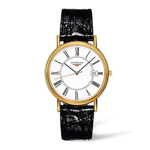 Longines Reloj Análogo clásico para Hombre de Cuarzo con Correa en Cuero L47902112