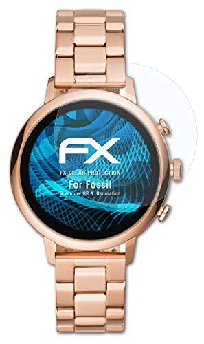 atFoliX Schutzfolie kompatibel mit Fossil Q Venture HR 4. Generation Folie, ultraklare FX Bildschirmschutzfolie (3X)