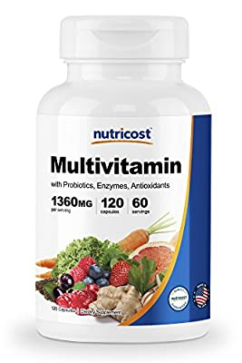 Nutricost Multivitamin 120 Veggie Capsules - with Probiotics and Enzymes
