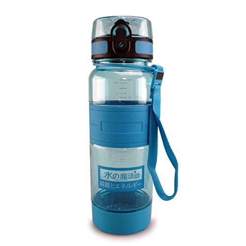 SMARDY Trinkflasche bpa-frei, auslaufsichere Wasserflasche 700ml aus Tritan, IONEN Balance Energy Sportflasche, türkisblau, mit Früchte-Sieb
