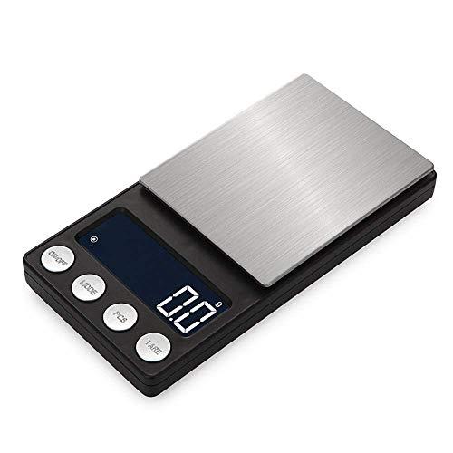 Relaxbx Mini Balance de Bijoux Précision Balance de Poche Électronique Balance de Bijoux Échelle de Carats Charge Palm Échelle de Pesage Électronique-Batterie Modèle 500G/0.1G
