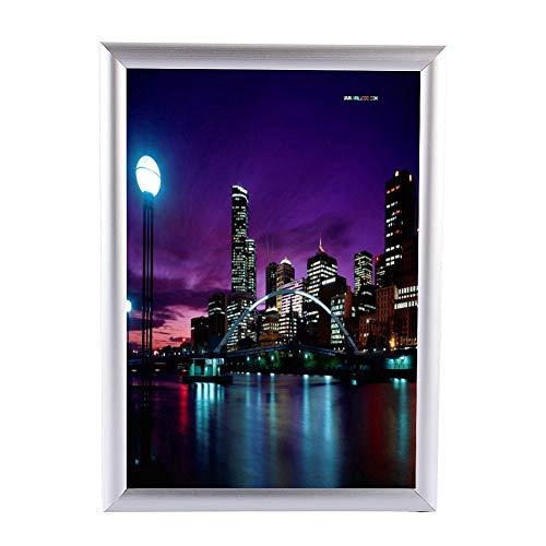 Cornici per poster, cornice a scatto in alluminio A3 Portafoto per poster con clip Display per bacheca da parete