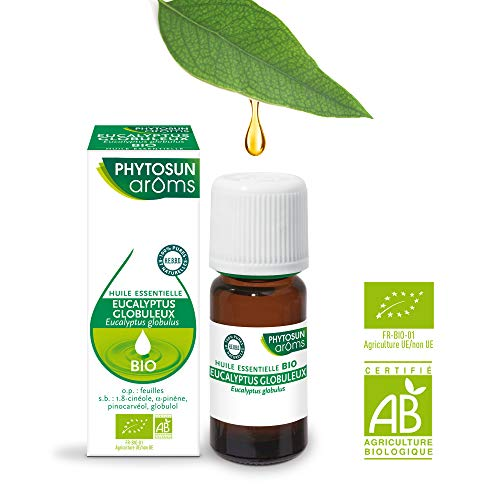 PHYTOSUN arôms – Huile Essentielle Eucalyptus Globuleux BIO – 100% pure et naturelle – Contribue au Confort Respiratoire – 10 ml