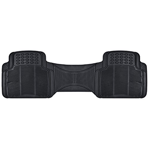 BDK Heavy Duty Rugged Ridged Complementary Rubber Rear Floor Mats Liners, All...