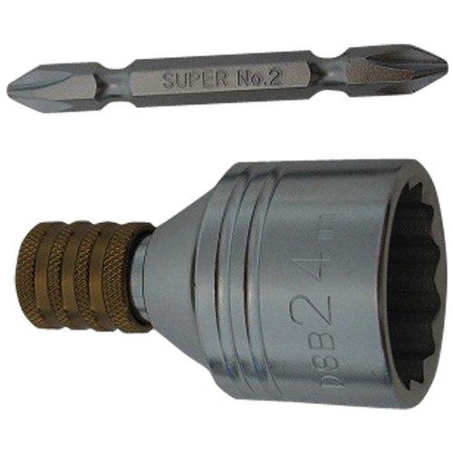 スーパーツール(SUPERTOOL) 電動ドリルインパクト用ソケットビット(ビット着脱式)24mm 18V対応 DSB24 (金属・金工)