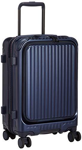 [カーゴ] スーツケース 機内持込サイズ スリムフロントオープン 多機能モデル CAT532LY 保証付 35L 48 cm 3.4kg デニムブルー