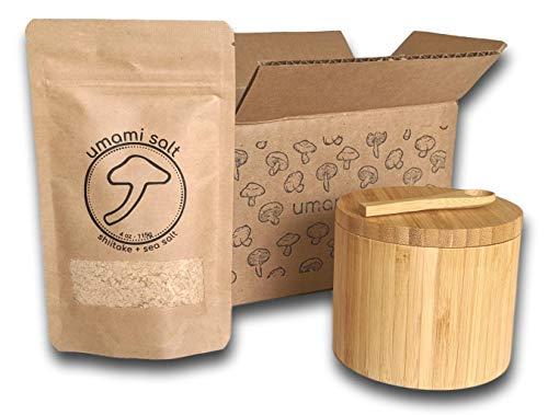 Umami Salt, Shiitake Mushroom Kosher Flake Sea Salt, Perfect for Seasoning or Finishing (Original, Gift Set)
