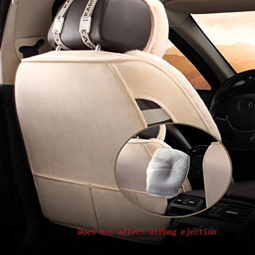SSRS Car seat cover Volvo XC60XC90 S60L S80L V40V60 Deluxe Edition Seat Cover Winter Antifreeze Plush All-inclusive Air cushion Chair Car Seat Cover (Color : Beige)