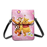 XCNGG Winnie The Pooh Bear Tigger Cell Phone Purse Crossbody Bags Women Men Teen Small Wallet With Removable Shoulder Strap