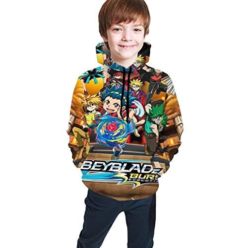 Children's Hoodies Bey-bla-de Bur-st Evolu-Tion 3D Print Unisex Pullover Hooded Sweatshirts for Boys/Girls/Teen/Kid's