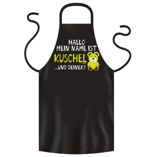 grappig bedrukt fun grillschort Mijn naam is knuffelbeer geschenk grill plezier schort kookschort schort partyschort keuken
