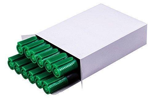 iVendor Whiteboard Marker Boardmarker, grün, 10+2 Stück, nachfüllbar, schnell trocknend, geruchsarm, Rundspitze 2-4 mm