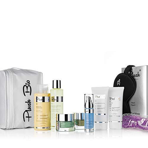 Plush luxuryBIOcosmetics - Matterende therapie - set van 6 producten + een cadeauzakje voor warmte - balans van talg gedurende de dag en regenereert de vette huid bij nacht