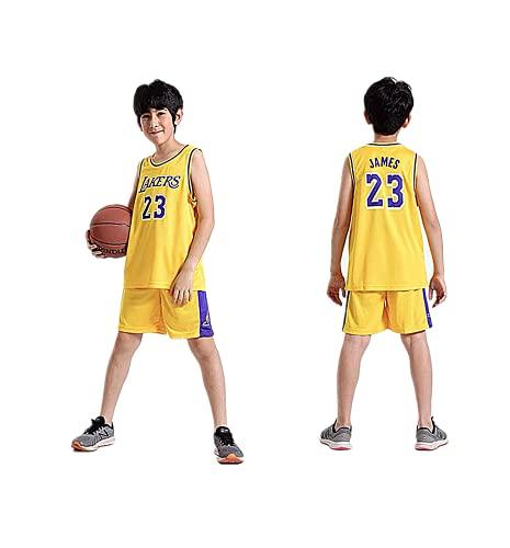TYTF - Conjunto de camiseta de baloncesto sin mangas para niño, de malla, uniforme de camiseta y pantalón corto, para verano, de 1 a 15 años, Serie 4, 150