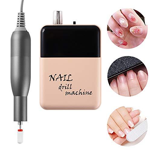 GAYBJ Nail polishing Machine Professional Finger Toe LED Display Battery Nail Care Electric Nail Polishing Machine Manicure Pedicure for Finger Toe Nail Care,Pink