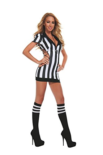 Starline Womens Sexy Cut-Out Referee Costume Set with...