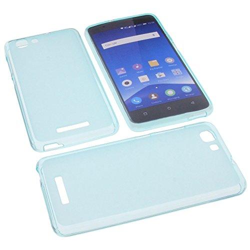 foto-kontor Tasche für Mobistel Cynus F10 Gummi TPU Schutz Handytasche blau