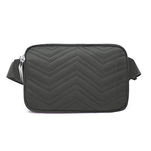 Wind Took Mode Damen Gürteltasche Bauchtasche Hüfttasche für Reise Alltag Outdoor Kein, 23 x 3 x 13 cm, Grau