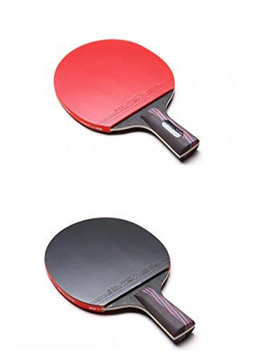 Raqueta de tenis de mesa profesional de madera de base de carbono de alta elasticidad para bates de ping pong (agarre Penhold)