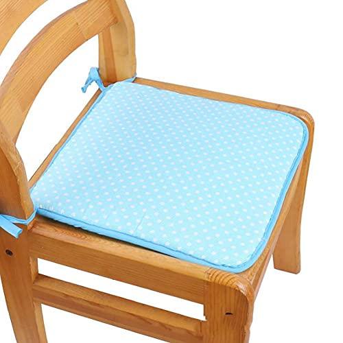 Sitzkissen, 2 Stück einfarbiges Esszimmerstuhlkissen, quadratisches, rutschfestes, haltbares Stuhlkissen, waschbar, dick, leicht zu sitzendes Kissen, geeignet für zu Hause und im Freien