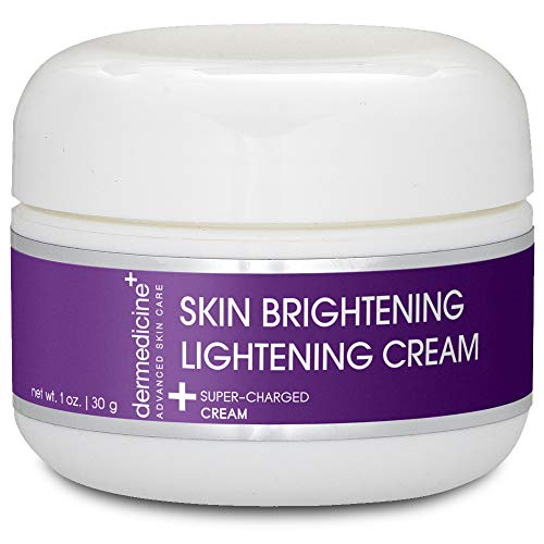 Natural Brightening Lightening Cream for Face w/ Bearberry Extract Jojoba Oil & Hyaluronic Acid | Helps Fade & Lighten the Appearance of Pigmentation | Brighter More Youthful Skin 1 oz / 30g