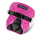 easy on-off pink dog Harness Vest with padded Interior