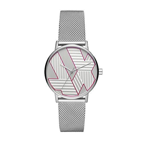 Emporio Armani Damen Analog Quarz Uhr mit Edelstahl Armband AX5549