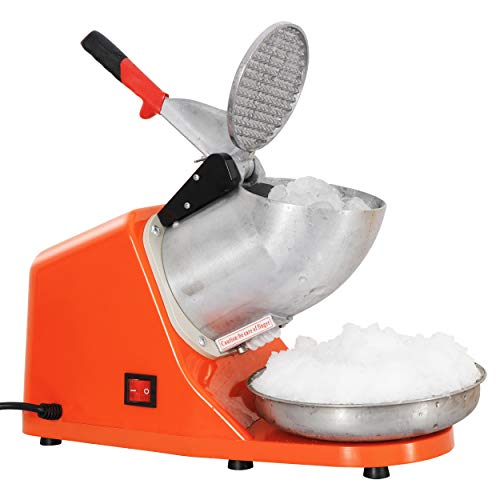 ZENY Ice Crushers Machine Electric Snow Cone Maker Stainless Steel Shaved Ice Machine 145lbs Per...
