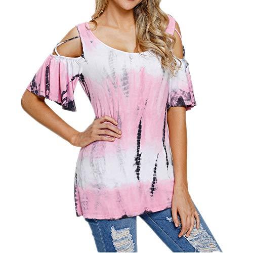 Explosives, mehrfarbiges, Schulterfreies, kurzärmeliges T-Shirt mit acht Größen und rundem Ausschnitt