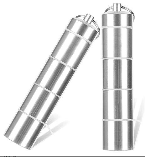 3 Piezas 4 Compartimentos Pastillero Para Medicamentos, Pastillero de Aluminio Porta llaves Pastillero, Pastillero Impermeable Porta llaves Para Actividades al Aire Libre Viajes Senderismo Camping