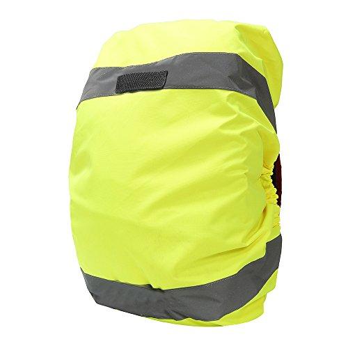 AYKRM Rucksackschutz Schultasche Regenschutz Regencape Rucksackcover Sicherheitsüberzug Reflektorüberzug (Gelb, 20-40L)