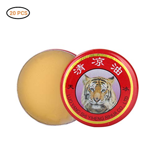 Lalone Bálsamo, Aceite de Crema de Tigre Bálsamo de Tigre Natural Aceite Esencial Tratamiento de bálsamo de Tigre para la Gripe Dolor de Cabeza frío Mareos Músculo Bálsamo de Tigre Ungüento