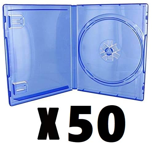 Pack 50 cajas individuales PS4 azul transparente…
