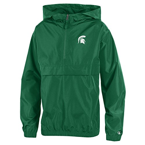 NCAA Michigan State Spartans Youth Boys Champion Packable Jacket, Medium, Green