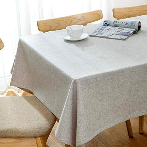 DSJ Home TV kast eettafel rechthoekig tafelkleed linnen tafelkleed, zie grafiek, 120x120cm