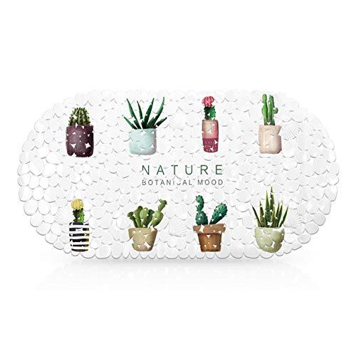 QQTT badmat, zacht, met zuignap, voor kinderen, antislip, badmat, extra lang, antibacterieel, comfortabel, duurzaam, badmat, sauna