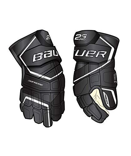 Bauer Supreme S19 2S Pro Senior Eishockey-Handschuhe, Schwarz/Weiß 14