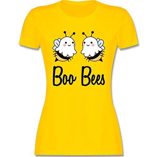 Halloween - Boo Bees - schwarz - XL - Gelb - Boo Bees Tshirt Damen - L191 - Tailliertes Tshirt für Damen und Frauen T-Shirt