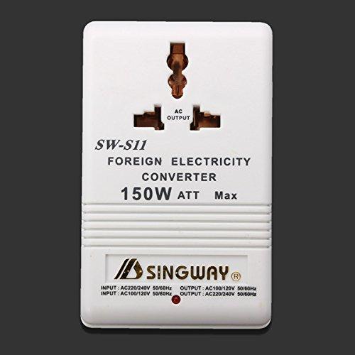 150 Watt 110 / 220V bidireccional Electricidad Convertidor adaptador de CA