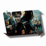 Harry Potter - Lord Voldemort 17' x 11' Handmade Wall Clock - Get Unique décor for Home or Office – Best Gift Ideas for Kids, Friends, Parents and Your Soul Mates