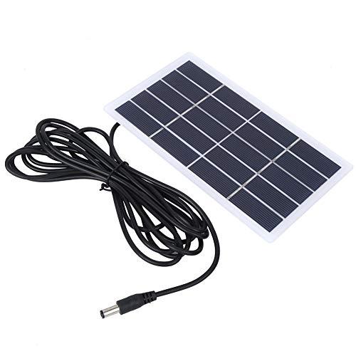 Vbest life Polysilicon Solar Power, 2W 5V Panel Solar Panel de batería con Interfaz de CC Carga para batería de 3.7V Lámpara de jardín para Exteriores